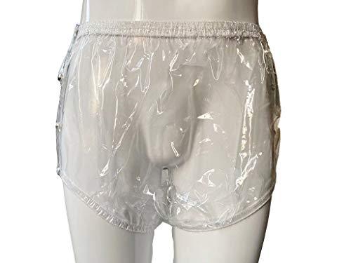 Haian Inkontinenzhose für Erwachsene, Kunststoff, zum Aufstecken, groß, glasklar