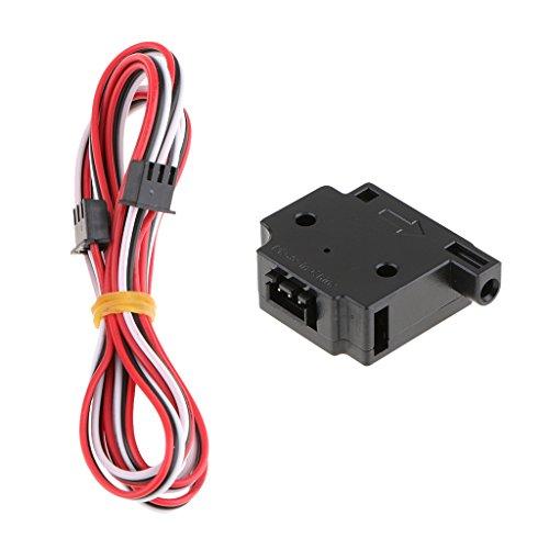 MagiDeal Módulo de Sensor Detección de Filamento Impresora 3D Run Pause Switch DIY - Negro, 3.00mm