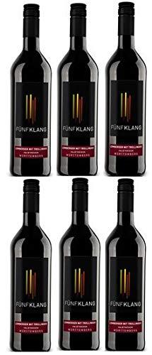 6 Flaschen Fünfklang Lemberger mit Trollinger a 750ml Rotwein