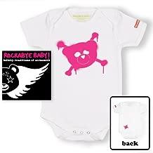 Rockabye Baby! Aerosmith + Organic Baby Bodysuit (White/Pink)