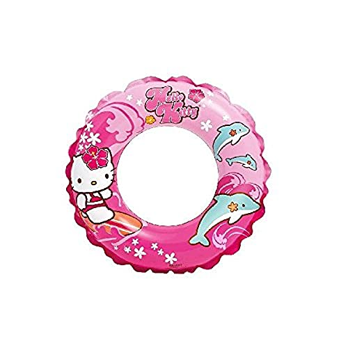 Intex Hello Kitty Bouée Gonflable pour Enfants de 3 à 6 Ans Diamètre de la bouée : 51 cm.