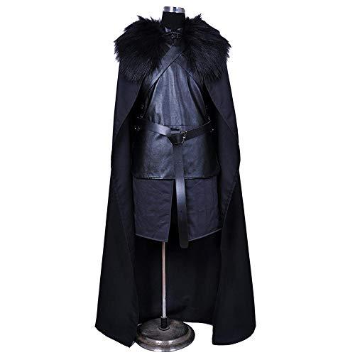 Cosplay Ropa Juego De Tronos Jon Crow Cosplay Disfraz De Lycra Medias Siamesas Impresión Digital 3D Vestido Navideño Elegante De Halloween para Adultos/Niños Adult-XXXL