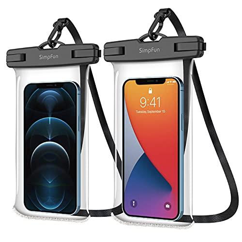 SIMPFUN Custodia Impermeabile Smartphone Sacchetto Impermeabile 7,0 pollici (2 pezzi) IPX8...