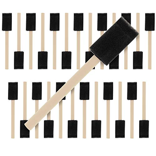 US Art Supply 25Pk Sponge Paint Brush for Smooth Finish