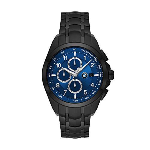 Orologio cronografo BMW in acciaio inossidabile nero BMW8006