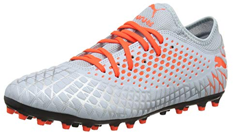 PUMA Future 4.4 MG , Botas de fútbol para Hombre ,Gris ( Glacial Blue-Nrgy Red ) , 43 EU