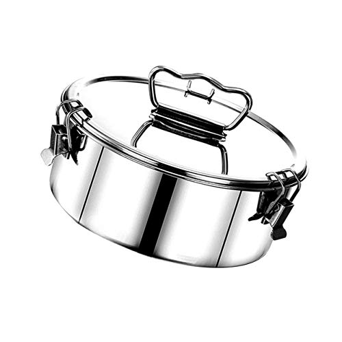 PIXNOR Steam Pot Stainless Steel Flan Mold Stock Pot Cookware Pot Saucepot Multifunctional Cooking Boiler with Ergonomic Handle for Pressure Cooker Accessories Silver