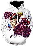 Sudaderas con Capucha Sudadera con Capucha para Hombre Suéter con Capucha Luffy Sudadera De Anime De Una Pieza Unisex De Manga Larga con Cordones Tops Estilo 2 XXS