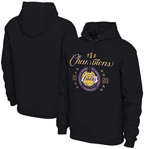 FISHOP Unisex Kapuzenpullover NBA Los Angeles Lakers Champion Hoodies Langarm Pullover Sweatshirt Kapuzenjacke für Herren Damen,M