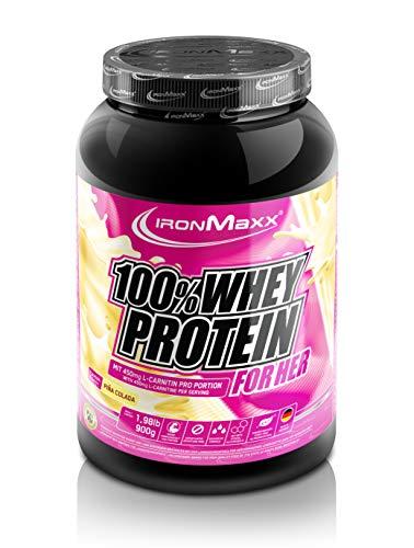 IronMaxx Batido 100% Proteína de Suero para Ella, Piña Colada 900 g