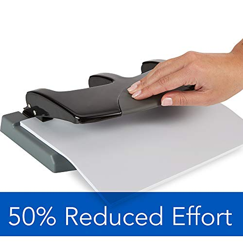 Swingline 3 Hole Punch, Desktop Hole Puncher 3 Ring, SmartTouch Metal Paper Punch, Home Office Supplies, Portable Desk Accessories, 45 Sheet Punch Capacity, Low Force, Black/Gray (74136) Photo #2