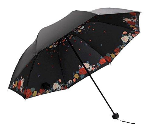 Black Temptation Parapluie Anti-UV portatif Tout-Temps et Parasol