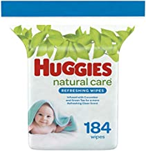 Huggies Natural Care Refreshing Baby Wipes, Scented, 1 Refill Pack (184 Wipes Total)