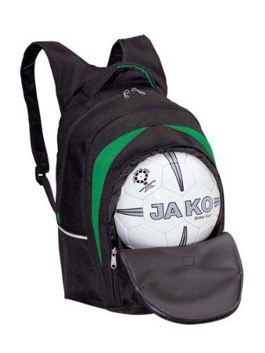 JAKO J1 Sporttasche mit Bodenfach, Gr.2, Farbe schwarz/grün