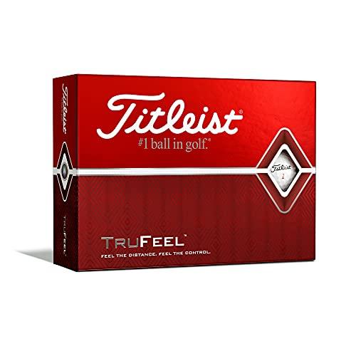 Titleist TruFeel Balles de golf, mixte adulte, TruFeel, blanc