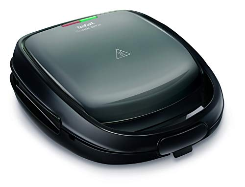Sandwichera de Tefal SW341B Snack Time multifuncional para gofres y sándwiches. Incluye 2 placas....