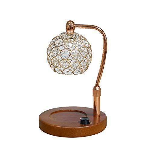 Calentador de velas, pantalla de cristal Lámpara de calentamiento de velas, lámpara de vela sin llama Lámpara de calentamiento ajustable de altura y brillo para la decoración del dormitorio del hoga