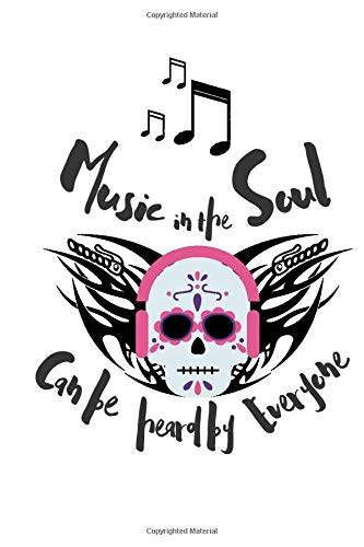 "Music in the Soul: 6"" x 9\"" Journal, Writing Habits, Daily Diary, Notebook, Gothic Rock Gift Ideas, New Start (Book)"