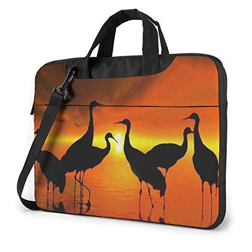 Sunset Birds Laptop Bag Messenger Bag Briefcase Satchel Shoulder Crossbody Sling Working Bag