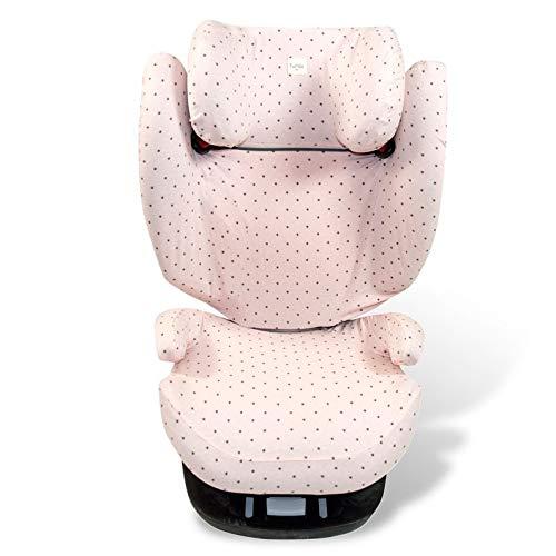 Fundas BCN ® - F116 - Sitzbezüge für Kinder-Autositz Cybex ® Pallas ® M & Solution ® M und M-Fix ® - Farbe Little Fun Peach