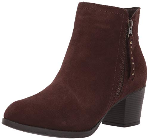 Skechers Women's Taxi-Short Gore and Zipper Bootie Ankle Boot, Chocolate, 5.5 M US