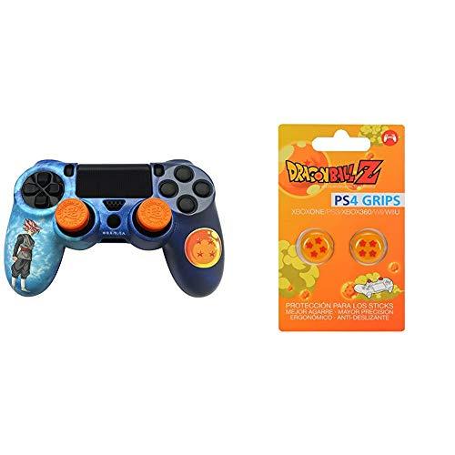 FR·TEC - Dragon Ball Super Combo Pack, para mando Dualshock de PlayStation 4 + Dragon Ball Z Grips (PS4)