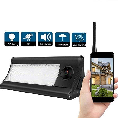 WEHQ Mini Cámara De Seguridad Inalámbrica Solar Inalámbrica 1080p Gran Angular Ángulo De Visión Exterior Impermeable Cinturón Sensor De Voz De 2 Vías LED HD Calidad De Imagen Sin Cables