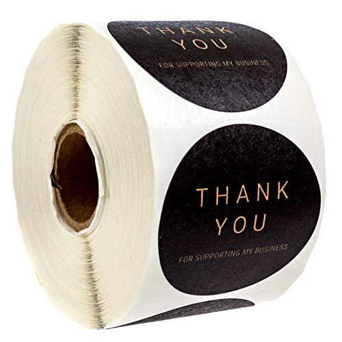 2 Inch Round Kraft Thank You for Supporting My Business Stickers / 500 Labels Per Roll