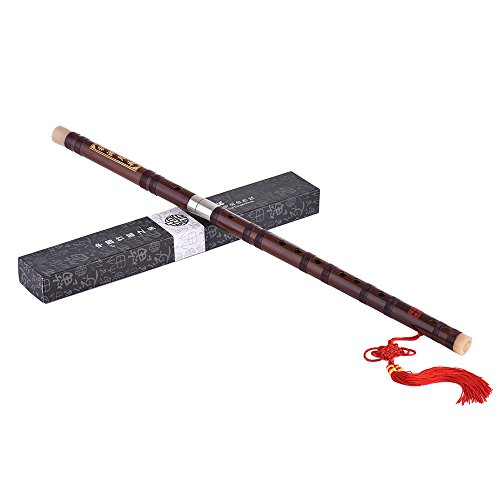 ammoon Flauto Dizi Cinese Pluggable Bamboo Bitter Tradizionale Fatto a Mano Strumento Musicale a Fiato Musicale Chiave di C Livello di Studio Professionale Prestazione