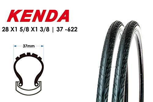 2 Stück 28 Zoll Fahrrad Reifen 37-622 GRL Cruz 28x1 3/8 Mantel Weiss Wand B-Ware