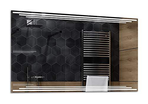 ALASTA® Miroir   Miroir LED Salle Bain   130x80cm   Birma   Nouvelle Génération Miroir avec Accessoires   Blanc Froid/Chaud en Option