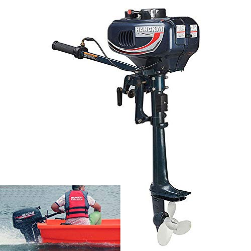 TABODD 3.5HP Boat Engine New 2 Stroke Water Sports Outboard Motor, 2.5KW 2 Stroke Boat Motor with CDI System & Air Cooling System for Kayak Fishing Boat Canoe