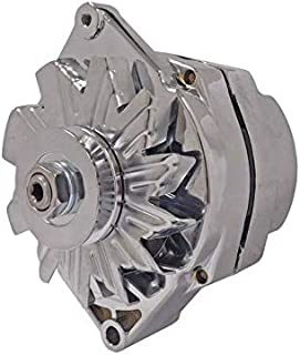 New Chrome Alternator 1 Wire Self Exciting Replaces 10 SI 10SI DELCO 65 AMP 1965-1985 10459509, 1103199, 1105360, 1876680, 1976063, 1979863, 1979865