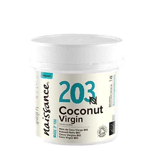 Naissance Coco Virgen BIO Sólido - Aceite Vegetal Prensado en Frío 100{0aaa5bfcda08d6b80ab9fa5b7f440771f17cb50ccf441ee01bfc63c7539c0e9b} Puro - Certificado Ecológico - 100g