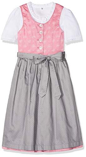 Berwin & Wolff Mädchen 586680 Kleid, Mehrfarbig (Rosa/Grau 5809), 116