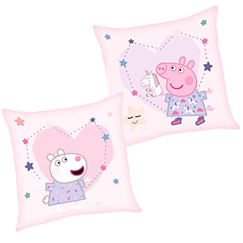 Peppa Dreams | Kinder Kissen 40 x 40 cm Wutz Pig | Dekokissen