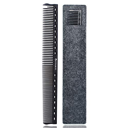 HYOUJIN 608 Black Carbon Rat tail Combs Pin tail comb 100% Anti static 230℃ Heat Resistant...