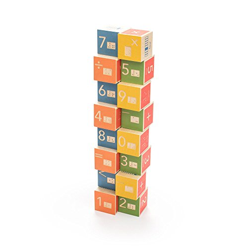 Uncle Goose Braille Math Blocks - Made in The USA