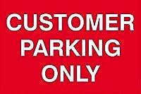顧客駐車場のみ壁金属ポスターレトロプラーク警告錫サインヴィンテージ鉄絵画装飾オフィス寝室リビングルームクラブのための面白い吊り下げ工芸品