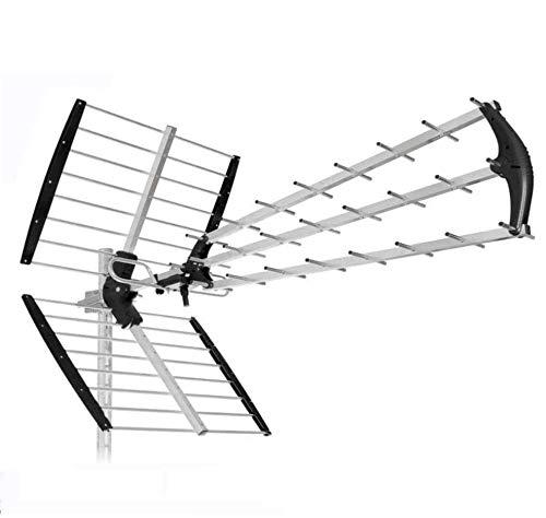 ANTENNA 45 ELEMENTI Lte 4G PER DIGITALE TERRESTRE UHF HD TV-PRONTA ALL USO IN SOLI 5 SECONDI