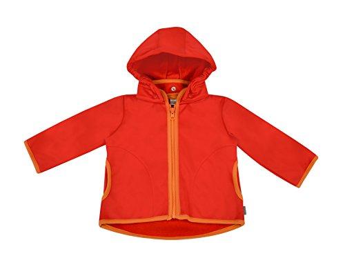 Be! Mama be! Baby/Kinder Softshell Jacke mit Leichter Fleece-Schicht innen, Wassersäule: 10.000 mm, Gr. 86/92, rot