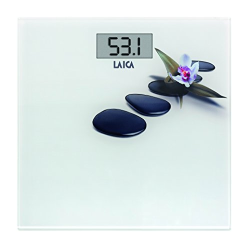 Laica Bilancia PS1056 Pesapersone Elettronica, Sassi, 180 kg, Vetro