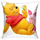 wuhandeshanbao Winnie The Pooh and Piglet Pillowcase Covers 18x18 Decorative Sofa Seat Car Soft