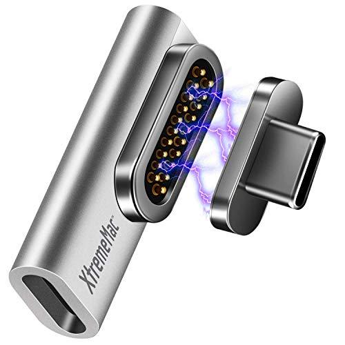 XtremeMac® Premium Magnetischer USB C Adapter für Apple MacBook, iPad und andere USB-C Geräte, Schnellaufladefunktion 100W, Datenübertragung 10gb/s, 20 polig