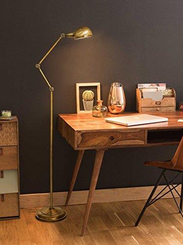 Staande lamp van koper, leeslamp voor werkkamer, slaapkamer, ogen, E27, 40 W, max. led.