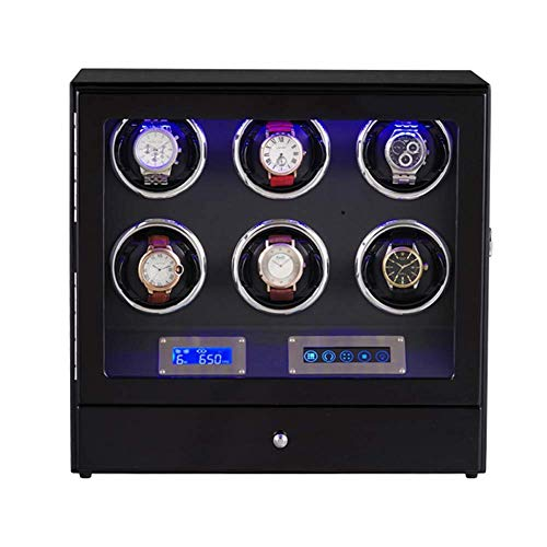 Mechanical Watch Winder, with Adjustable Watch Pillows, 6 Winding Spaces Watch Winders for...