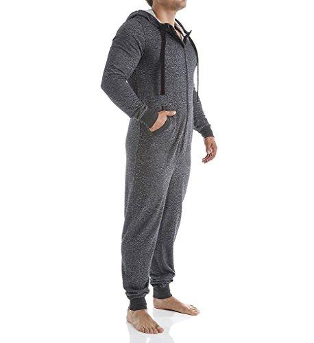 2(X)IST Men's Flight Suit, Black Heather, Large
