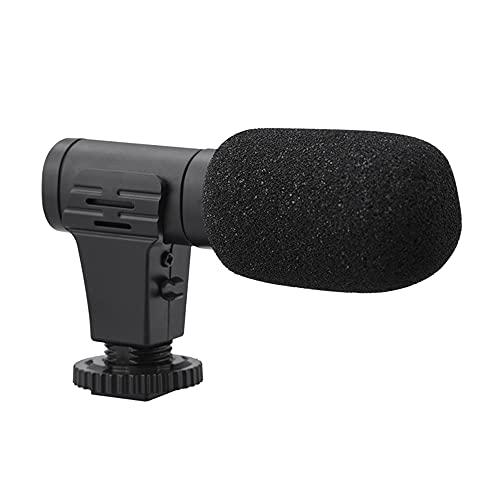MY99 USHOMI Micrófono estéreo Grabación de vídeo Digital Cámara DV Estudio de entrevistas Videocámara de 3,5 mm Micrófono Equipo de fotografía