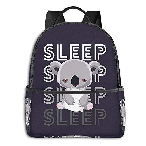 AOOEDM Backpack Koala Sleep Men Women Backpack Lightening School Bag Multi-Purpose Sports Bag Bulk Shoulder Bag for Sports Gym Yoga