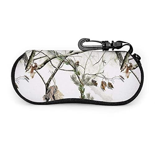 AOOEDM Hunting Tree Camo Gafas de sol blancas Estuche blando Estuche portátil ultraligero para anteojos de neopreno